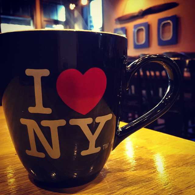 A coffee mug professing love for New York, in Nashville