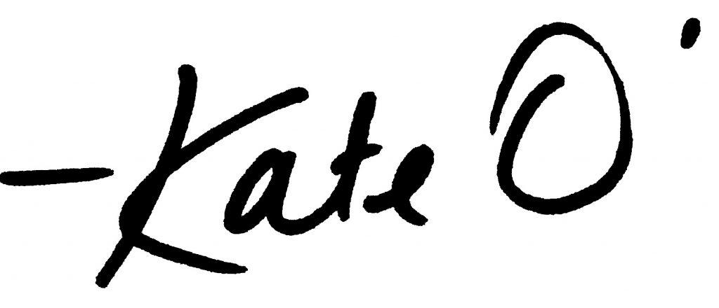 Kate O signature